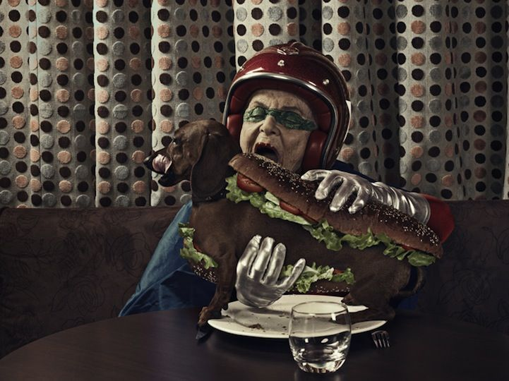 Hotdog? Genius!    http://www.mymodernmet.com/profiles/blogs/grandmas-superhero-therapy-18#
