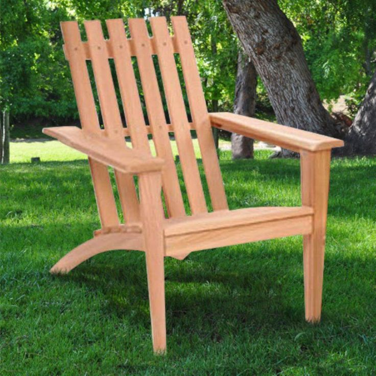 Outdoor All Things Cedar Easyback Adirondack Chair Wood
