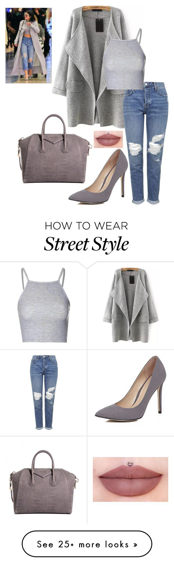 """3:33"" by lillirosemckbris on Polyvore featuring moda, Topshop, Glamorous, River Island e Givenchy"