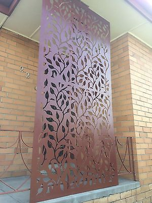 Decrotive Garden Privacy Metal Screens Corten Steel Laser CUT Patterrns | eBay