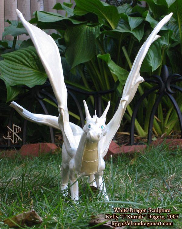 Dragon Garden Statues For Sale | White Dragon Sculpture By *jkarrah On  DeviantART