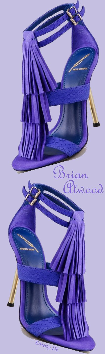 Brian Atwood-super awesome purple fringe! LVE!! So HT!! ❤️Repinned by @ willswife102712