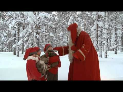 Santa Claus & husky dogs - huskies in Lapland - Rovaniemi in Finland - YouTube