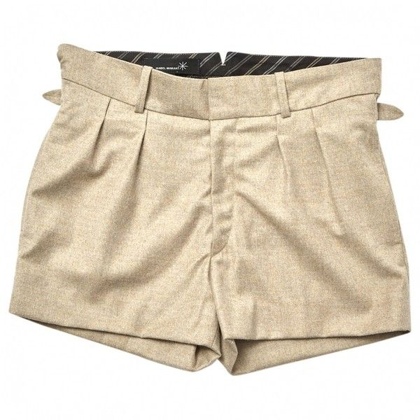 Pre-owned Isabel Marant Shorts (3 155 UAH) ❤ liked on Polyvore featuring shorts, beige, isabel marant, isabel marant shorts and beige shorts