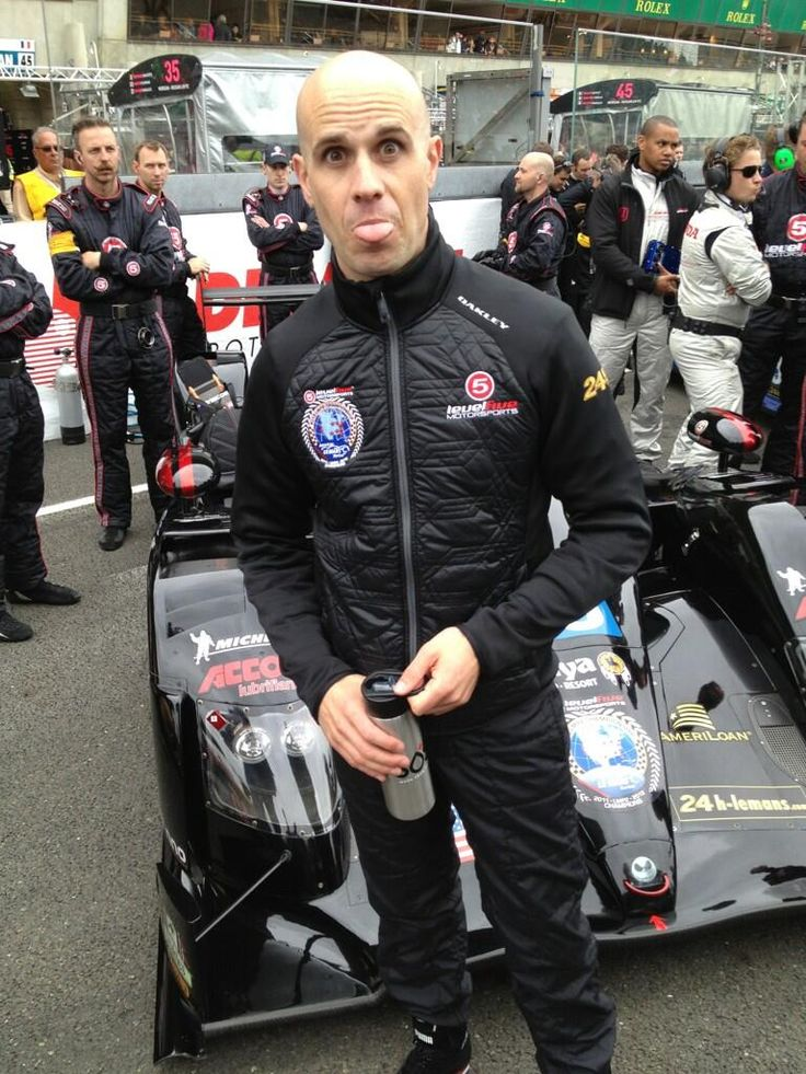 Level 5 Racing Driver Marino Franchitti at the start of the 24 Hours of #LeMans.