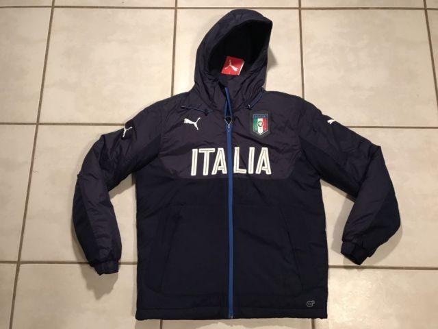 NWT PUMA Italy National Team FIGC Hooded Bench Jacket Men's Medium | eBay