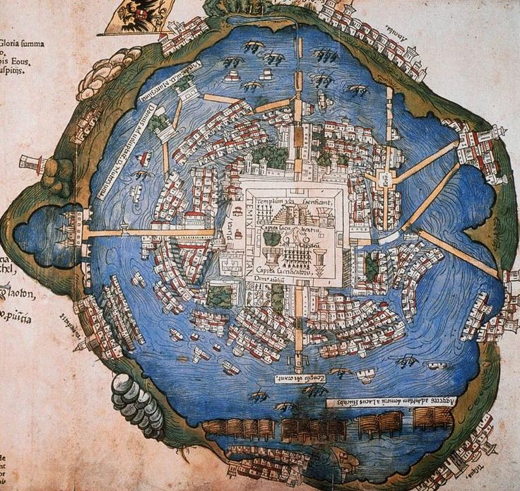 Hernando Cortes map of the city of