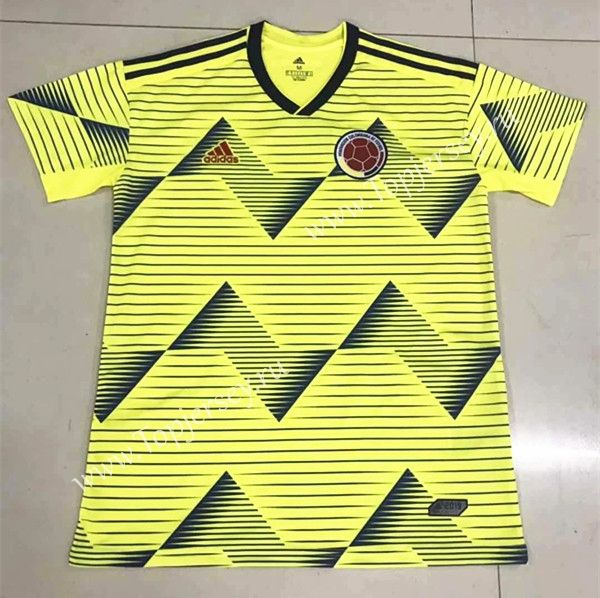 World Cup 2020 Colombia.2019 2020 Colombia Home Yellow Thailand Soccer Jersey Aaa