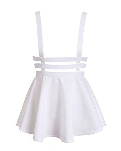 Bluetime Womens Pleated Short Braces Skirt (White) Bluetime http://www.amazon.com/dp/B00ZC38ETY/ref=cm_sw_r_pi_dp_PJPRvb17GTKT1