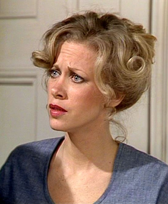 "Connie Booth as 'Polly Sherman' in ""Fawlty Towers"""