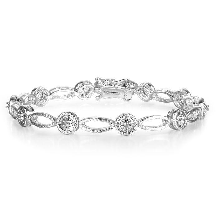 Tennis Bracelet Diamond Tennis Bracelet Antique Insipired 1 5 Carat Diamond Tennis Bracelet Overlay Sparkly Bracelets Swarovski Crystal Bracelet Jewelry