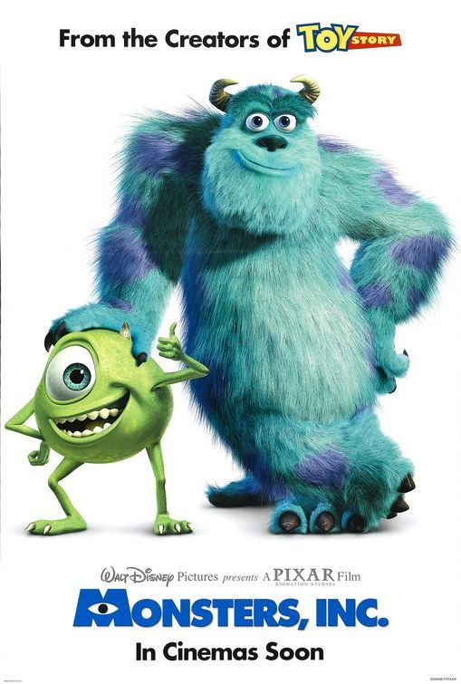 Monsters, Inc. - one of my all-time favs