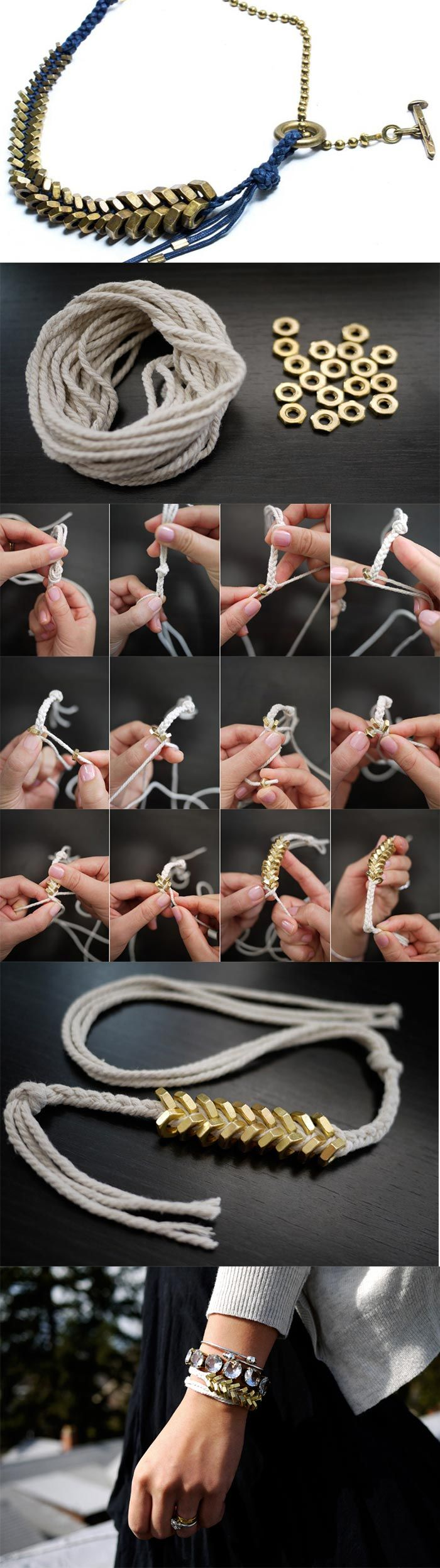 Braided  Bracelet – DIY I. Love. This!!!! I think I'm gonna need to pick up some of these here materials!!
