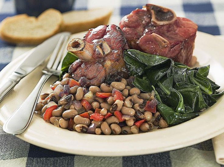 BlackEyed Peas with Ham and Greens Recipe Lucky food