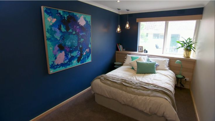 Blue Bedroom from the block triple threat