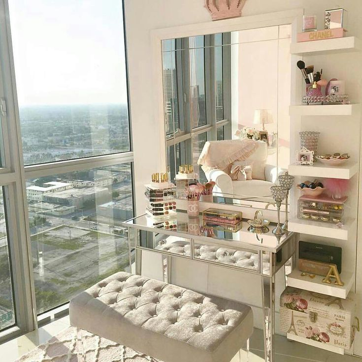 My vanity next to a huge window or glass door. Yes, please.