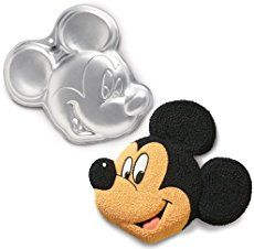 Step by Step Tutorial showing how to make a Mickey Mouse Clubhouse Birthday Cake using the Wilton cake pan. Post shows photos every step of the way!