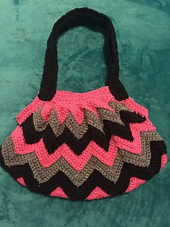 Crochet Chevron Purse I designed. Pattern is available for sale here on Ravelry