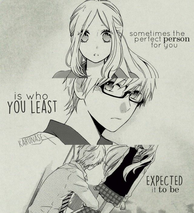 """Sometimes the perfect person for you is who you least expected it to be.."" 