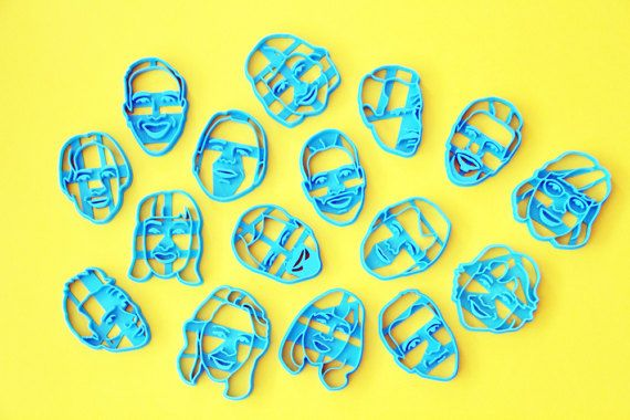 Custom cookie cutter, RUSH ORDER  Your Portrait Face Portrait custom  custom cookie cutter Personalized gift / Custom Selfie Cookie Cutter / for Bridal Shower / Anniversary