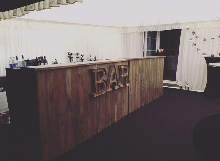 Awesome event / wedding / birthday / festival bar hire with a prosecco van! Lytham Fizz Bar Hire / Prosecco van hire . 2 meter, 4 meter, 6 meter and 8 meter bar all in salvaged elm plank - and prosecco van hire