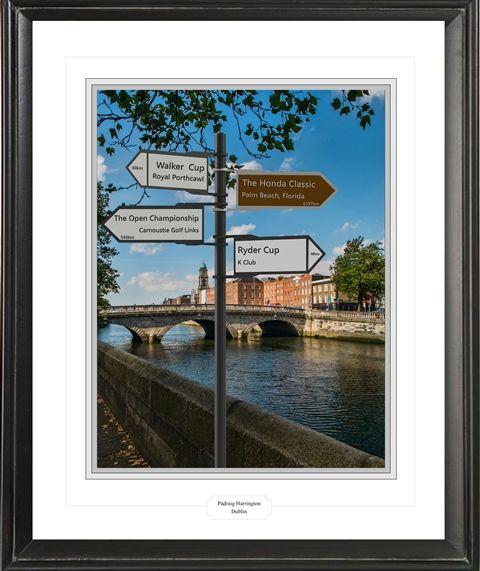 Padraig Harrington's anchor place is Dublin