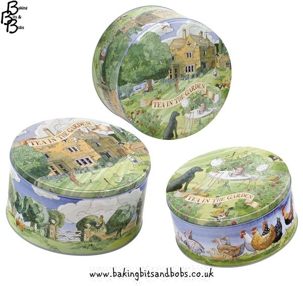 Tea In The Garden   Set Of 3 Cake Tins Http://www.