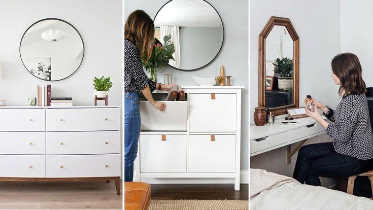 5 geniala Ikea-hacks för ett litet sovrum