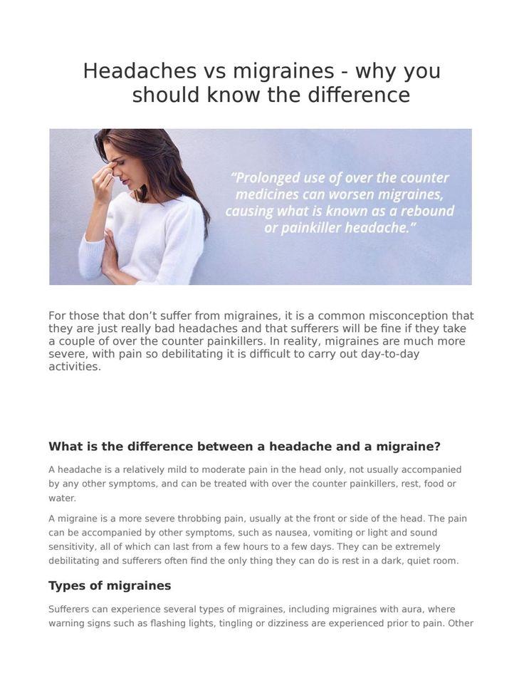 Headaches vs migraines