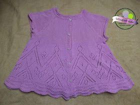 Różowy sweterek z krótkim rękawem