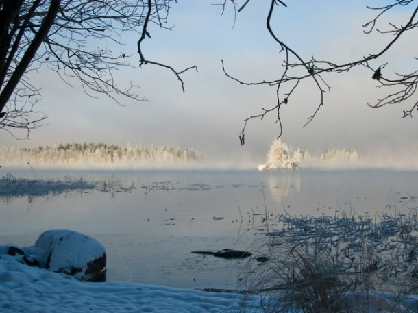 Lake Päijänne at winter time
