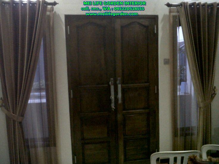 desain gorden minimalis untuk pintu utama gorden ini terpasang di perumahan pondok benowo surabaya