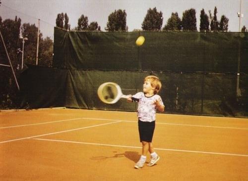 Little Roger Federer