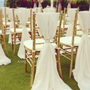 I'm not a big fan of chair covers but these are beautiful.