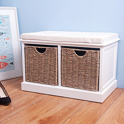 life carver white basket storage bench wiu2026