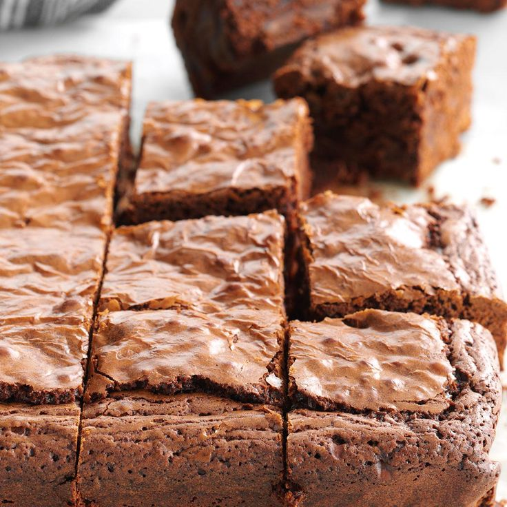 Ultimate Fudgy Brownies Recipe -In these ultra fudgy brownies, coffee granules bump up the chocolate flavor. Add chocolate chips to the batter and you've got irresistible treats. —Sarah Thompson, Greenfield, Wisconsin