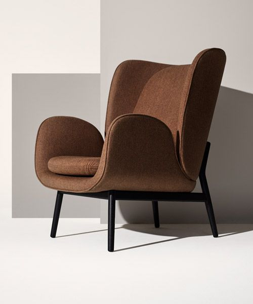 norm architects chair for fogia looks to nature to form wingback companion