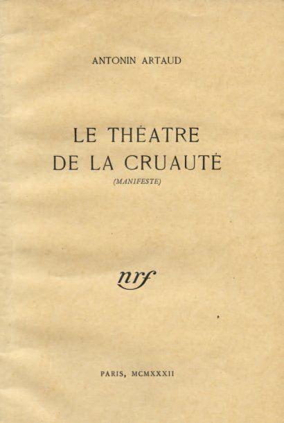 Cover of Antonin Artaud's Theatre of Cruelty (Manifesto), 1938