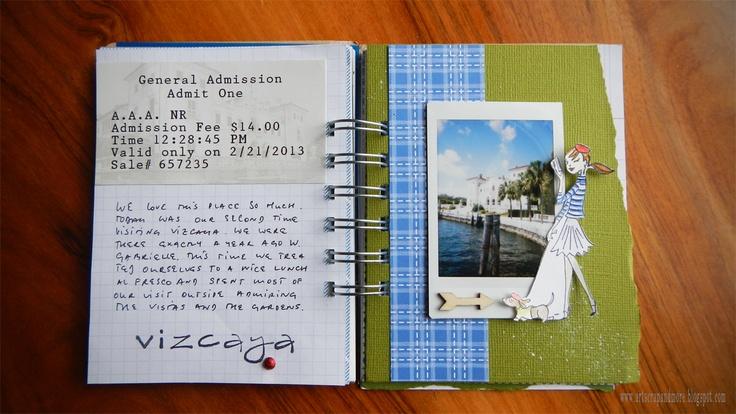 art scrap & more: alexandra's Sunday scrapbook - How to make a roadbook