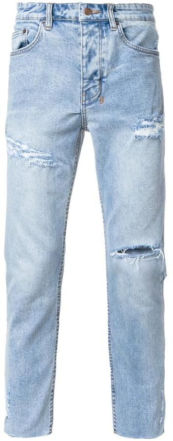 Ksubi distressed tapered jeans
