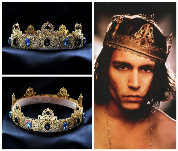Gold Dolce Male Crown For Royal King Pageant by Elviejewelrydreams