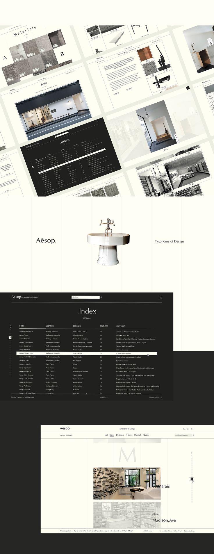 Aēsop Taxonomy of Design on Behance