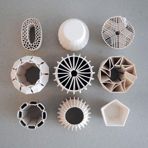 3D printed ceramic vessels