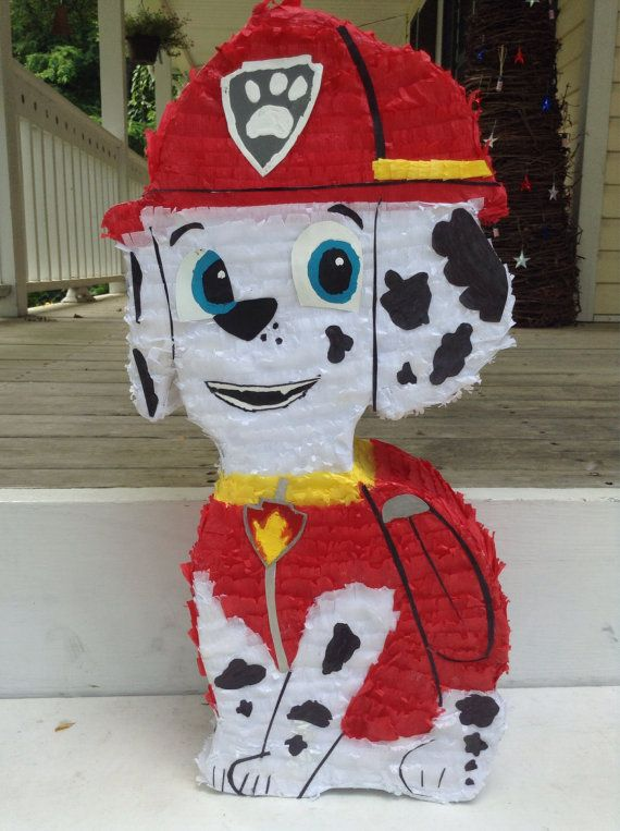 Cute Paw Patrol Marshall Dalmatian Dog Party Pinata by LaAranita: