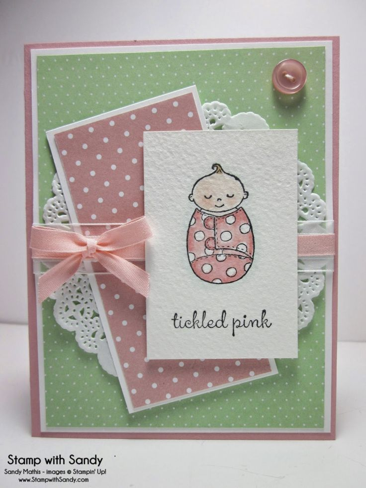 Stamp With Sandy: Tickled Pink Baby, Bundled Baby Stamp Set, Stampin' Up