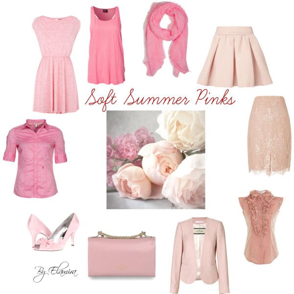 """Soft Summer pinks"" by sabira-amira on Polyvore"