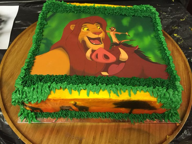 Lion King Sheet Cake Sindy S Cakes Pinterest Lion