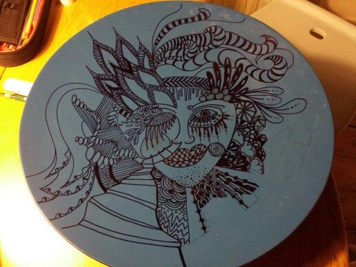 Drawings on a dish... Work in progress