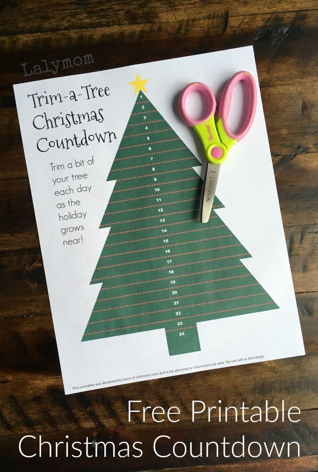 christmas tree countdown printable