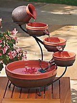Solar Cascade Fountain - easy patio fountain | Solutions